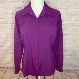 COLUMBIA Omni Shade Long sleeve purple top